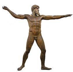 Poseidon-tirage bronze période grecque