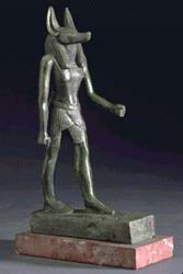 anubis.tirage bronze période égyptienne