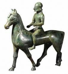 statue de cavalier-tirage bronze de la période grecque