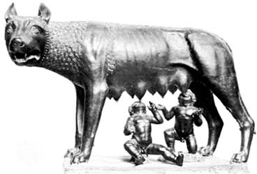 la-louve-du-Capitole-tirage bronze période romaine