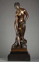 statue nu-feminin-debout-tirage bronze florentin